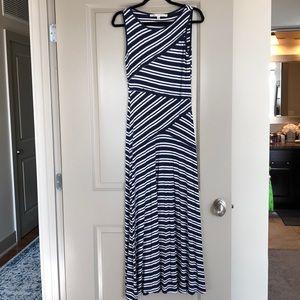 Max studio striped maxi dress